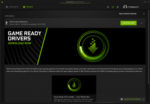 Geforce Game Ready Treiber herunterladen