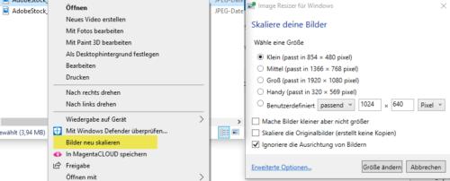 Image Resizer fuer Windows