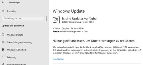 Auch Windows Update kann Grafikkartentreiber aktualisieren