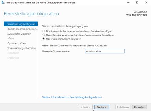 Stammdomäne in Active Directory