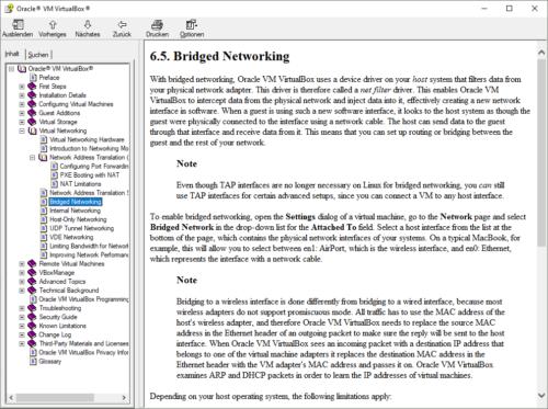 Die VirtualBox-Anleitung ist in englischer Sprache