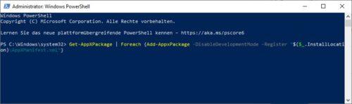 Standard-Software über die Powershell konvertieren und neu installieren