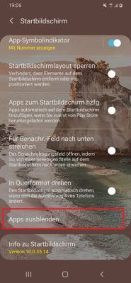 Apps ausblenden unter Android ohne Root