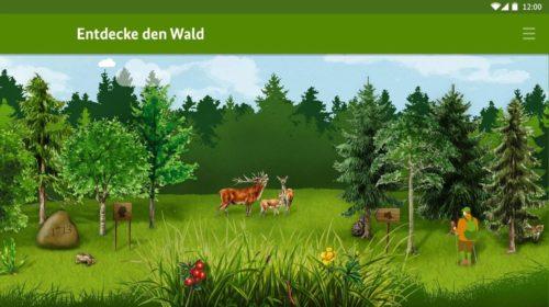 """Screenshot der """"Die kleine Waldfibel"""" Kinder-App"""