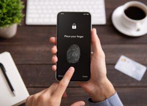 Fingerabdruck Scanner auf Smartphone