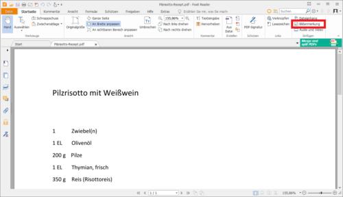 Bild in PDF einfügen mit Foxit Reader