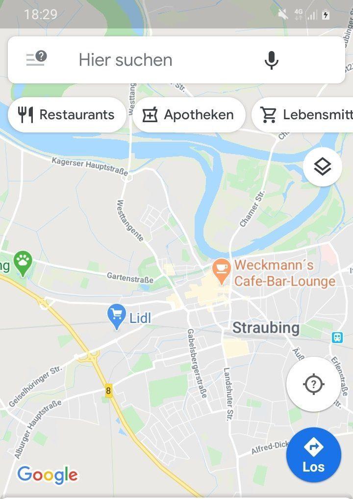 Google Maps auf Samsung Galaxy