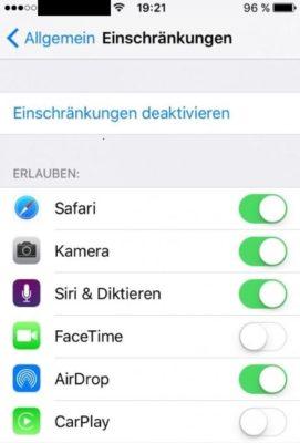 Apps auf einem iPhone einschränken ohne Jailbreak