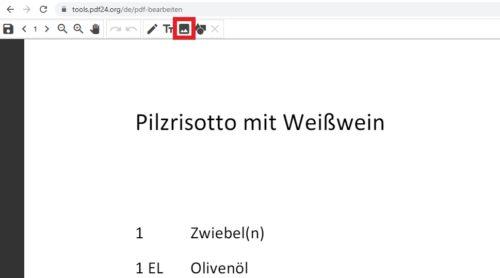 Bild in PDF einfügen mit PDF24