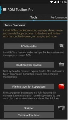 Screenshot der ROM Toolbox Pro