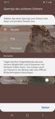 Sicheren Ordner auf einem Samsung Handy anlegen