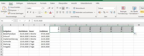 Anzahl Tage für den Zeitplan der Reihenfolgen nach festlegen