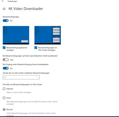 Anpassung der 4K Video Downloader Software
