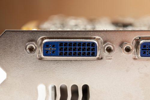 DVI Anschluss auf einer älteren Radeon-Grafikkarte