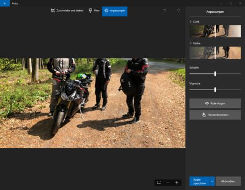 Fotos in Windows 10
