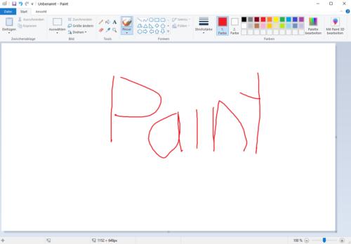 Bildbearbeitung kostenlos mit Microsoft Paint