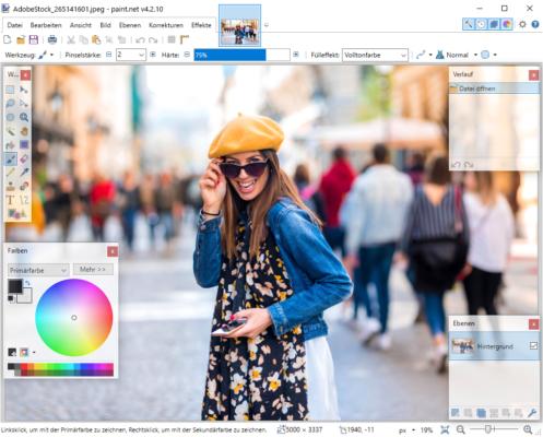 Bildbearbeitungsprogramm kostenlos Paint.NET
