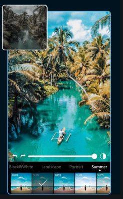 Screenshot von Adobe Lightroom mit Test-Presets