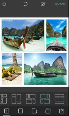 Screenshot der Pixrl Bildbeabeitungsapp
