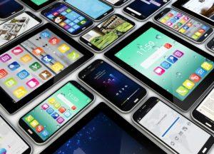 Verschiedenen Smartphones und Tablets