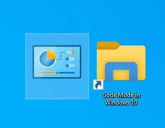2x GodeMode in Windows 10 auf dem Desktop