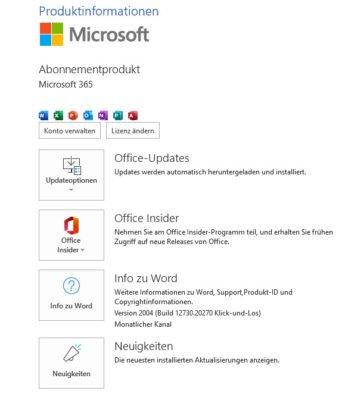 Produkt Microsoft 365