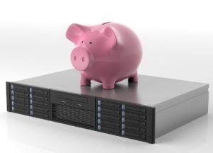 Sparschwein auf Server
