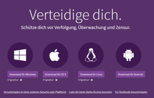 Download vom Tor-Browser
