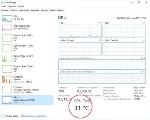 GPU-Temperatur