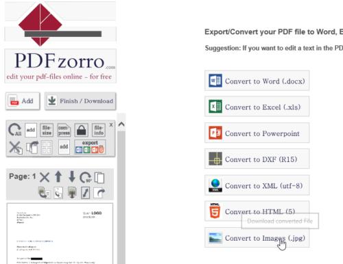 PDF als Bild exportieren