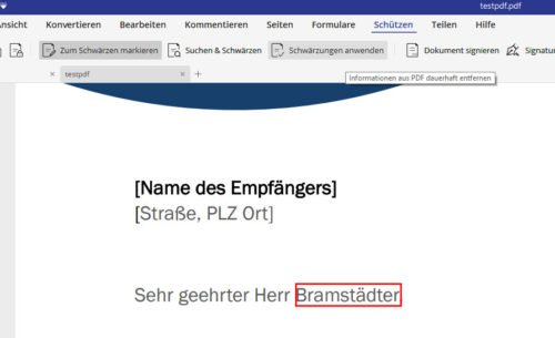 PDFelement kann PDF schwärzen