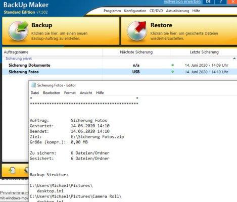 Sicherung Backup Maker