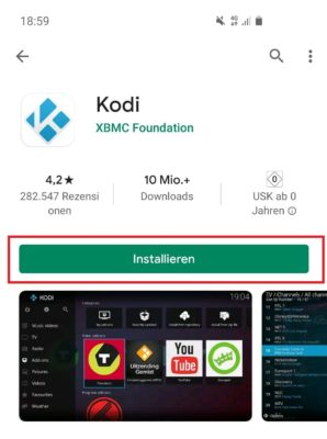 Kodi für Android Installer