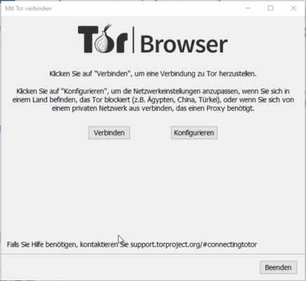 mit dem Tor-Netzwerk verbinden