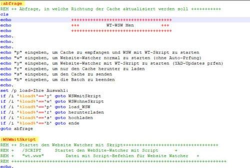 Abfragen und Sprungmarken in Batch-Dateien