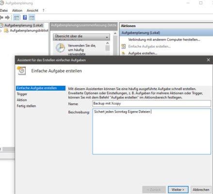 Batch-Datei über die Aufgabenplanung