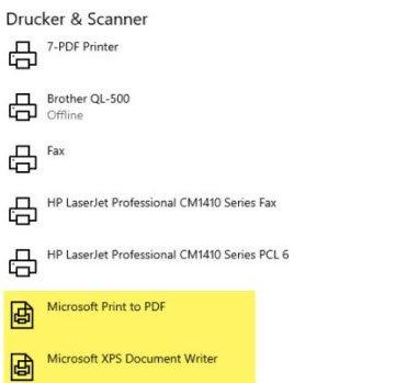 PDF-Datei mit dem Microsoft Print to PDF Drucker neu ausdrucken