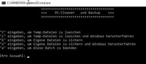 Komplexe Batch-Datei mit Auswahlmöglichkeiten