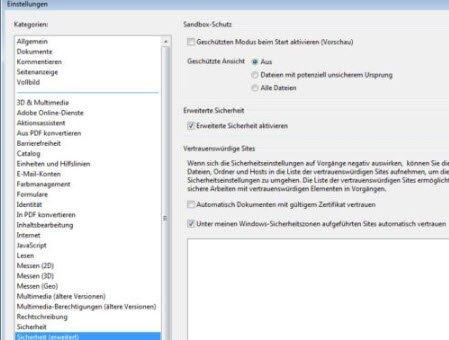 Geschützte Ansicht abschalten, um fremde PDF-Dateien zu drucken