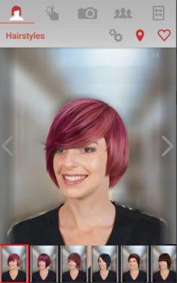 Frisurensimulation mit Hair Zapp bei einer Frau