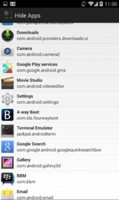 Screenshot der Smart Hide Calculator Taschenrechner App