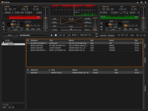 DigiJay als weitere Free DJ-Software.