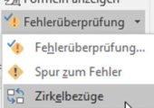 Excel Zirkelbezug finden Icon
