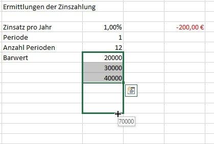 Excel erweitert Zahlenreihen automatisch