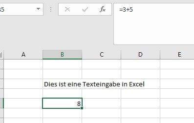 Excel rechnet Ergebnisse eine Zelle aus
