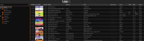 Musikbibliothek von Mixxx