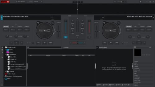 VirtualDJ im Starter-Theme