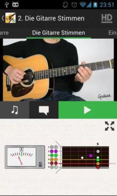 Screenshot von Gitarre lernen Anfänger LITE deutsch