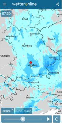 Regenradar App installieren deutsch auf einem Samsung-Smartphone