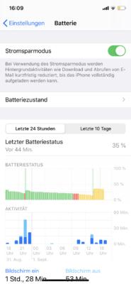 Einstellungen zur Batterie